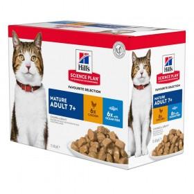 Hill's Mature Wet Cat Food Pouch Chicken & Ocean Fish Flavour