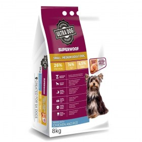 Ultra Dog Superwoof  Small-Medium Adult Dry Dog Food Chicken and Rice Flavour