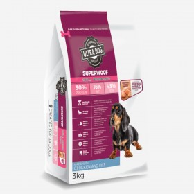 Ultra Dog Superwoof  Small-Medium Puppy Dry Dog Food Chicken Flavour