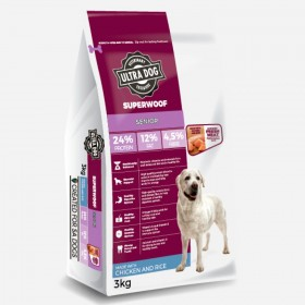 Ultra Dog Superwoof  Senior Dry Dog Food Chicken and Rice Flavour