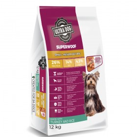 Ultra Dog Superwoof  Small-Medium Adult Dry Dog Food Turkey and Rice Flavour